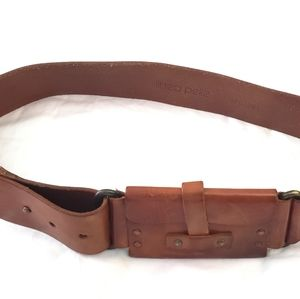 Linea pelle leather belt with money pouch